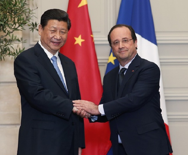 Xi Jinping et Hollande