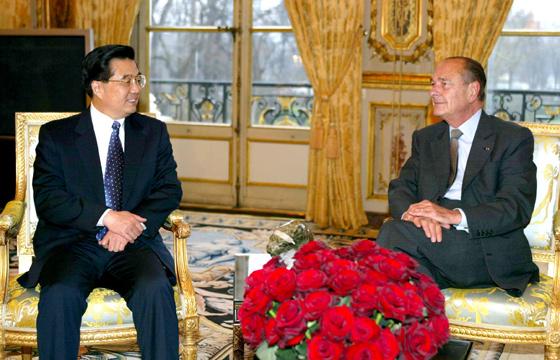 Chirac et Hu Jintao 2