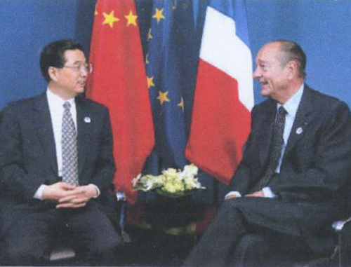 Chirac et Hu Jintao