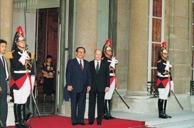 Mitterrand et Jiang