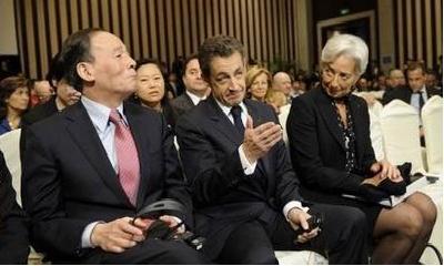 Sarkozy Wang et Lagarde