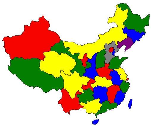 Provinces et Villes de Chine