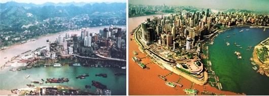 重庆市五年间变化
