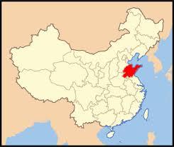 Shandong carte Chine