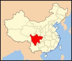 Sichuan carte Chine