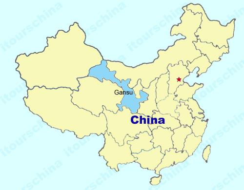 Gansu carte Chine