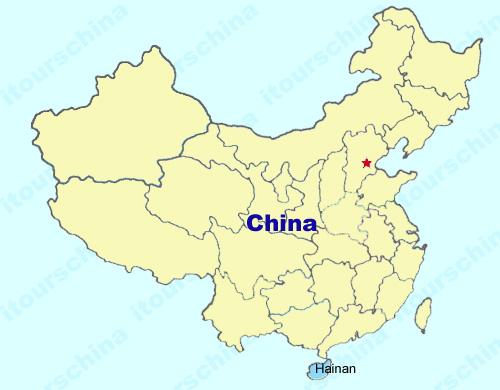 Hainan carte Chine